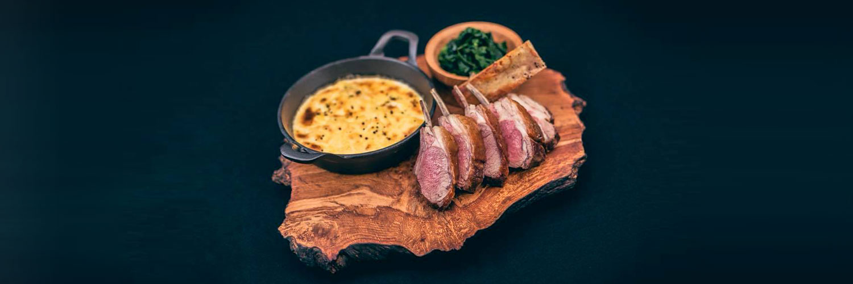 Steak at 20 Stories restaurant in Manchester
