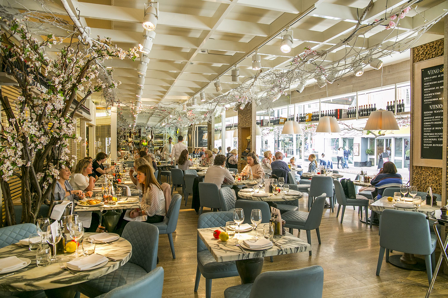 The buzzy restaurant floor at San Carlo Cicchetti in Manchester city centre