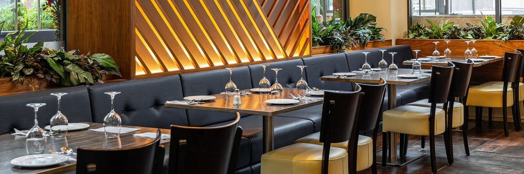 Restaurant interior at Zouk, Manchester