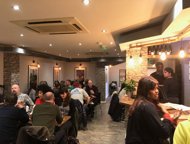 Inside Amma's Canteen, the much-praised Indian restaurant on the edge of Chorlton