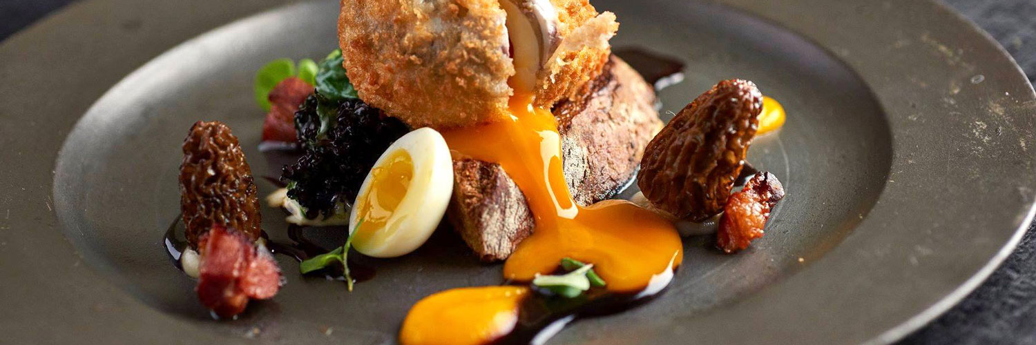 One of the dishes served at The Angle at Hetton - a Michelin star restaurant in the Yorkshire Dales