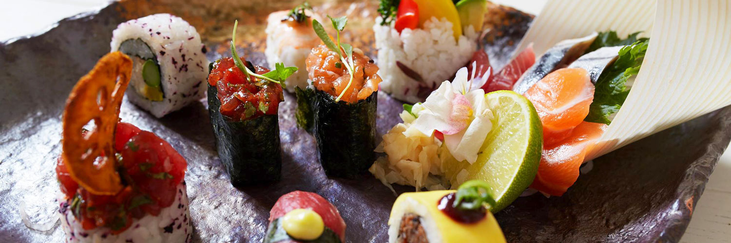 Sushi at Australasia, the Pan Asian fusion restaurant in Manchester city centre