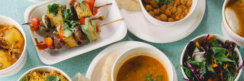 Colourful veggie and vegan small plates at Indian restaurant, Bundobust Leeds