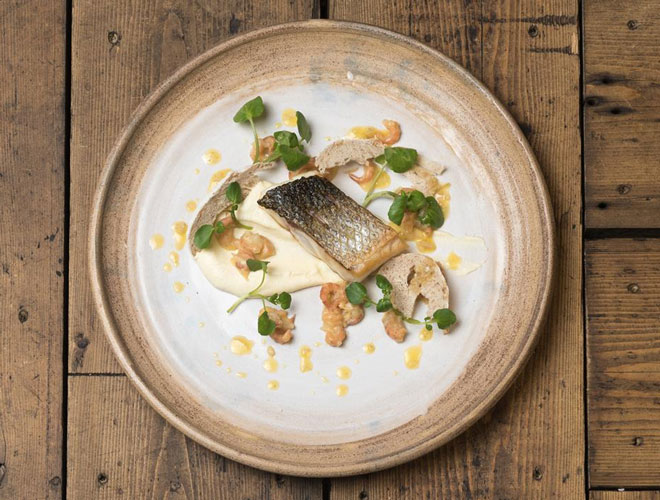 One of the dishes served at The Cartford Inn - a restaurant with rooms near Preston in Lancashire