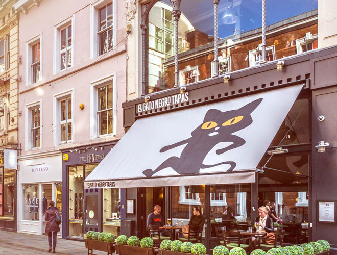 El Gato Negro, the much-praised Spanish restaurant on King Street, Manchester