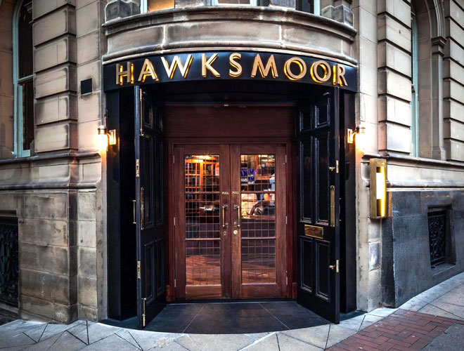 The exterior of Hawksmoor Manchester on Deansgate - the first Hawksmoor to open outside of London