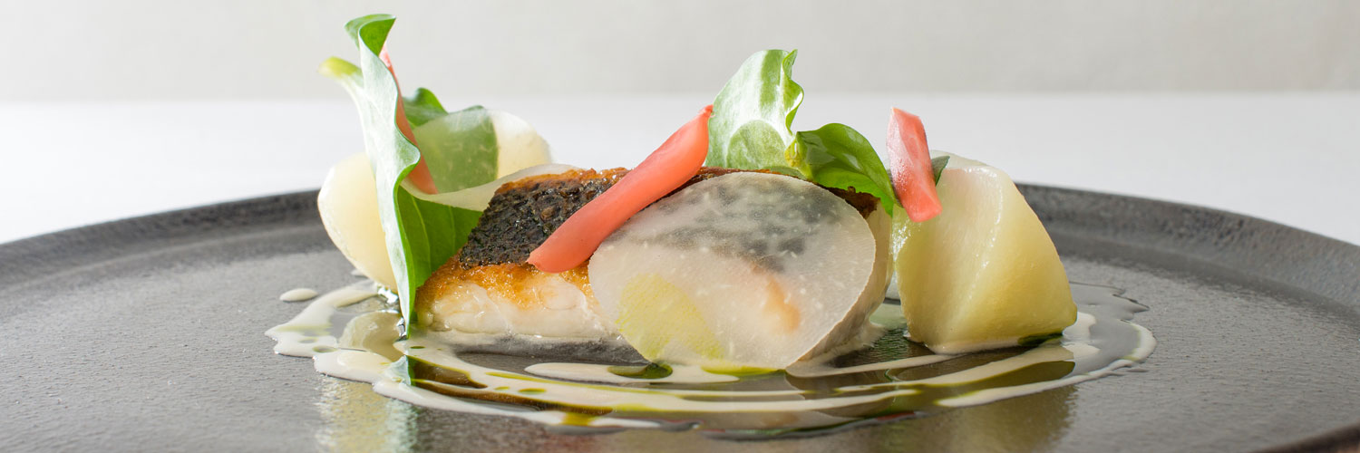 One of the dishes served at Hipping Hall, a restaurant with rooms in Kirkby Lonsdale with four AA rosettes to its name.