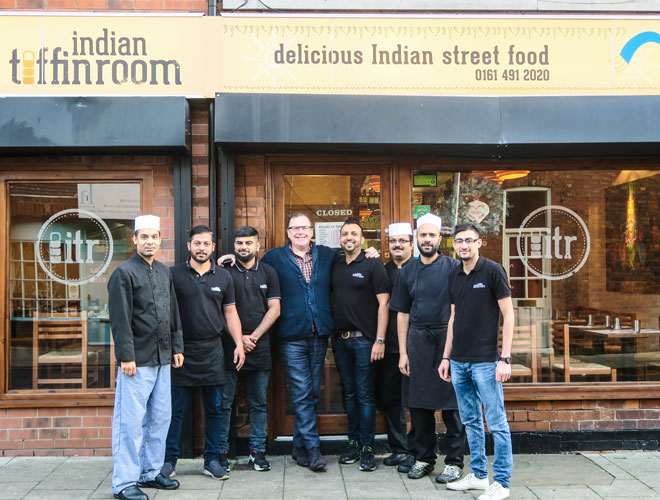 The team responsible for the street food magic served at Indian Tiffin Room Cheadle