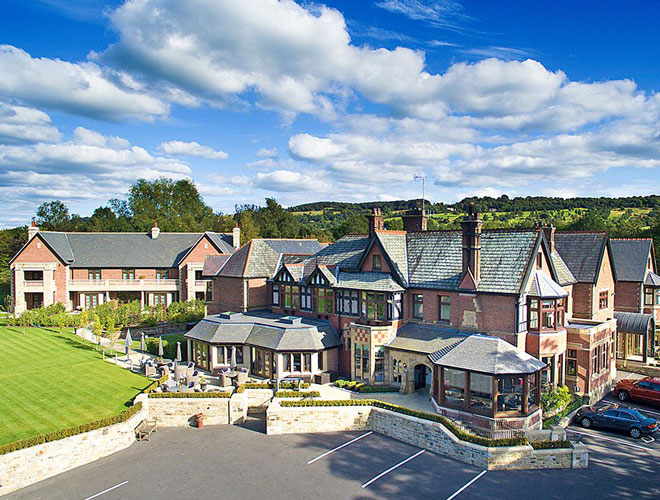 Exterior of Northcote - the Michelin star restaurant and hotel in the Ribble Valley.