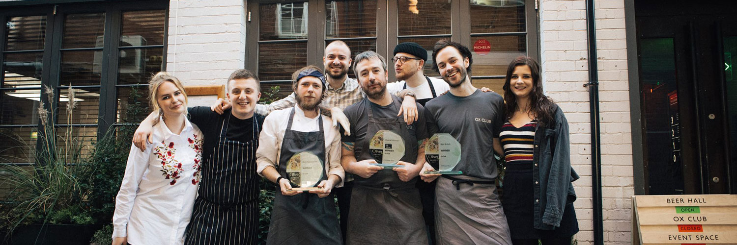 The award-winning team at the Ox Club restaurant in Leeds city centre.