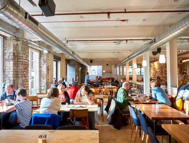 People dining at The Pen Factory in Liverpool: a Confidential Guides recommended restaurant