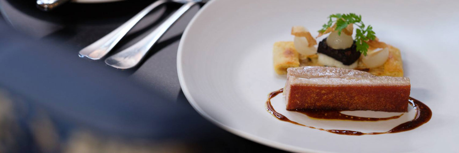 One of the desserts you might be served at Michelin star restaurant, Simon Radley at the Chester Grosvenor