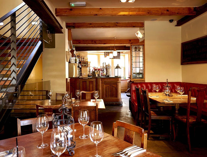 Inside Hearth of the Ram, one of Confidential Guides' recommended places to eat in Ramsbottom.