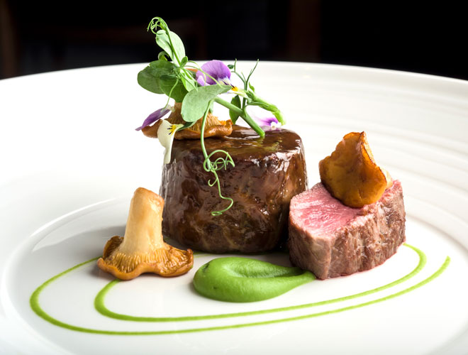 One of the mains served at Old Stamp House - the Michelin star restaurant in Ambleside, the Lake District.