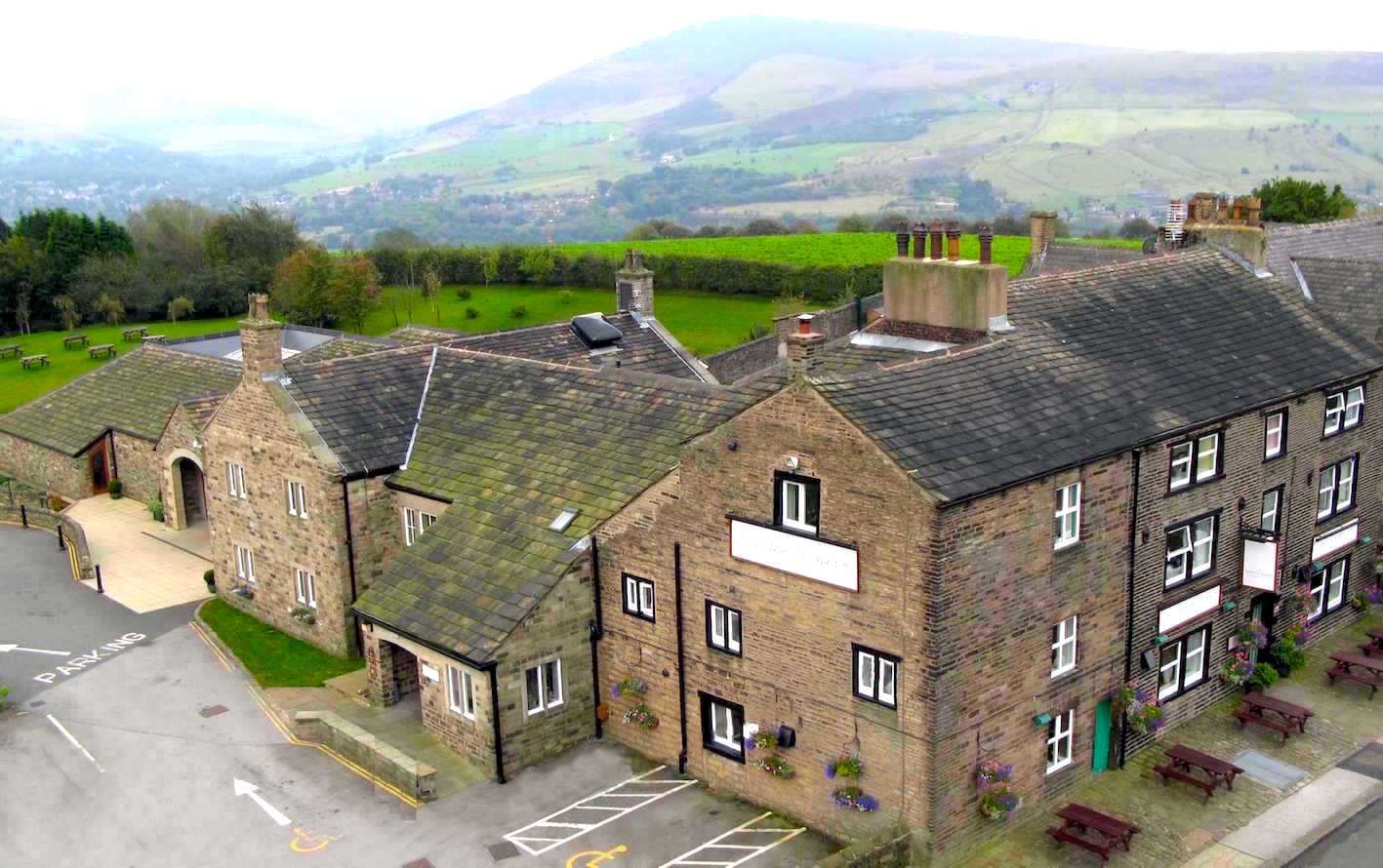 A pub with a view: The White Hart at Lydgate is 700 feet above sea level on the edge of Saddleworth Moor