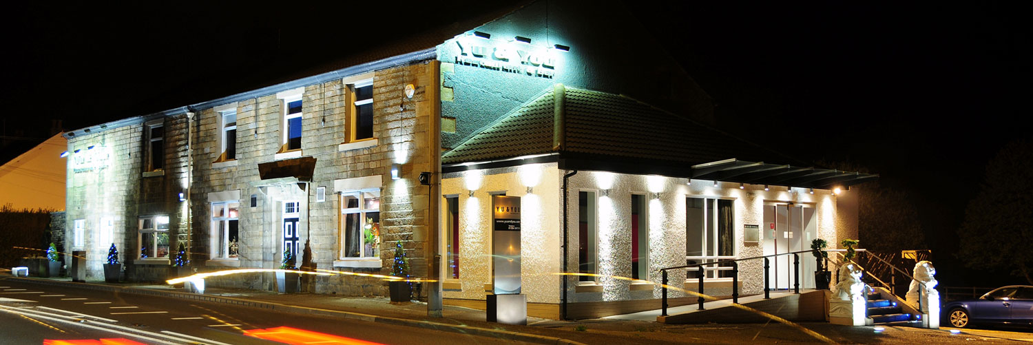 The exterior of Yu Copster Green, an acclaimed Chinese restaurant in the Ribble Valley, Lancashire