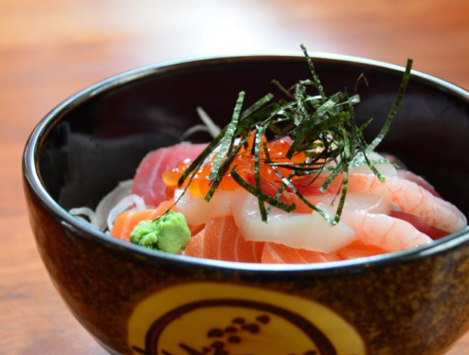 A dish served at Yuzu, a Confidential Guides' recommended Japanese restaurant in Manchester's China Town