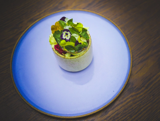 One of the dishes served at Manchester's only Michelin star restaurant, Mana in Ancoats.