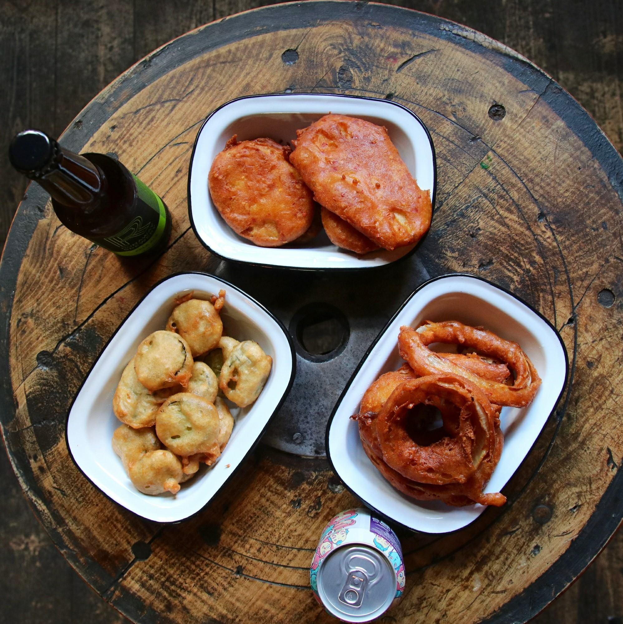 Battered squid rings from Hip Hop Chip Shop, the maverick fish and chip restaurant in Ancoats