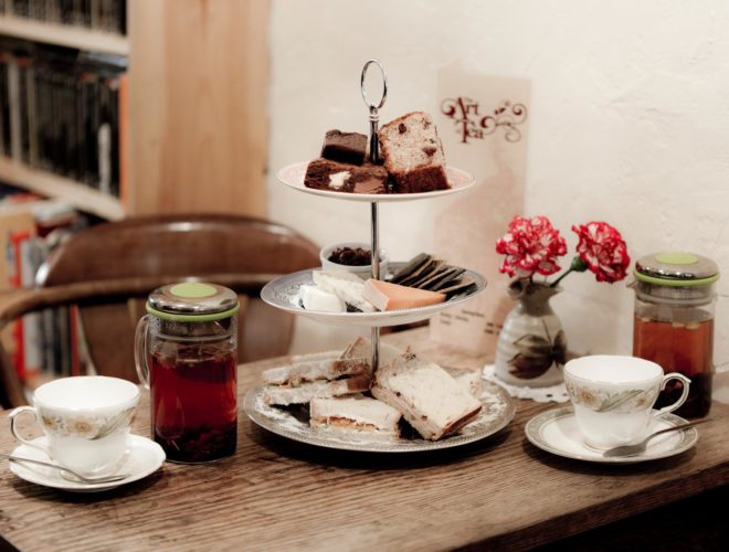 Afternoon tea served at The Art of Tea: a Confidential Guides recommended cafe-bar in Didsbury