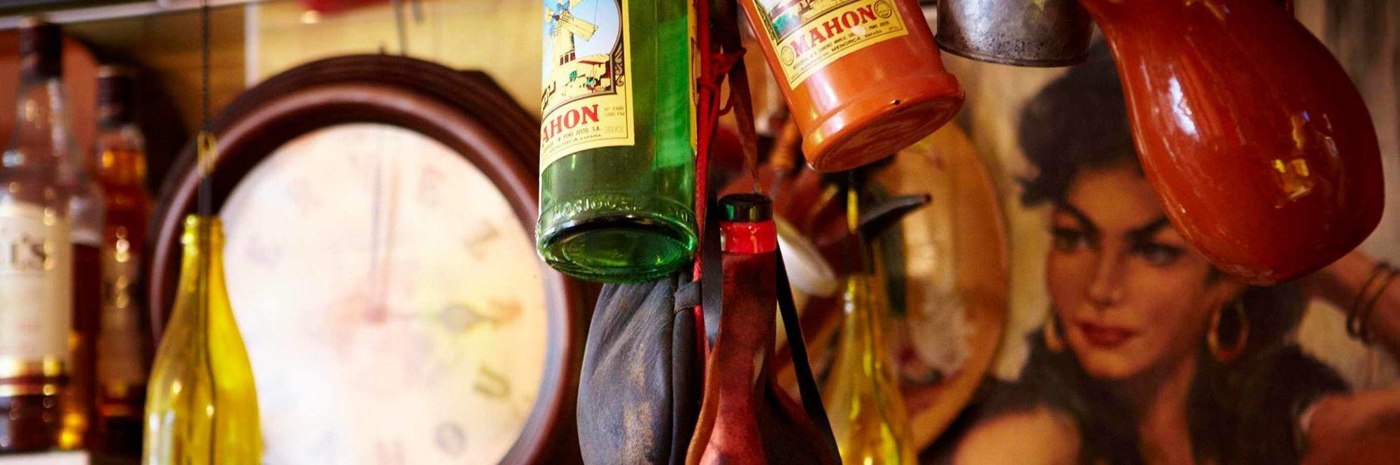 The tiny interior has a distinctly Spanish style at Bar San Juan in Chorlton