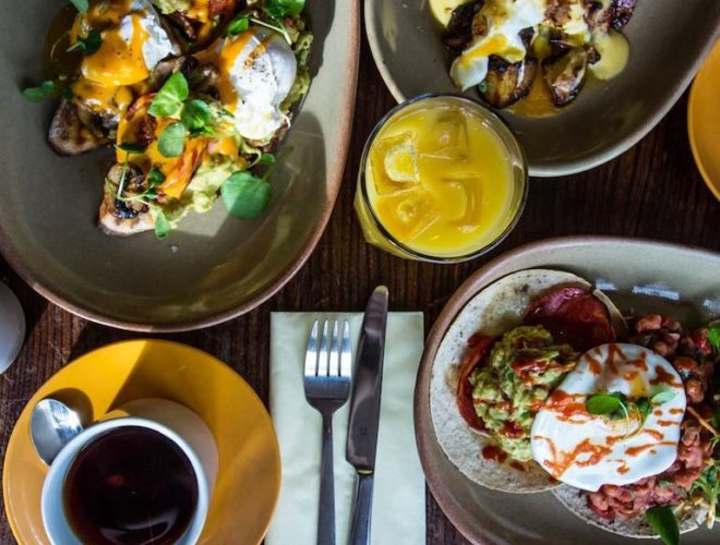 Three dishes served at The Font Chorlton: a Confidential Guides recommended bar and restaurant