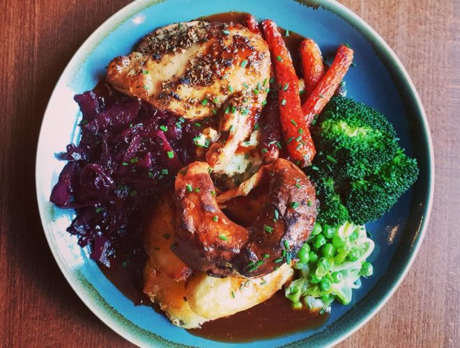 One of the colourful dishes served at neighbourhood favourite Mary & Archie in Chorlton.
