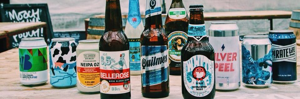 Some of the ales and beers served at football-loving Libero bar in Altrincham