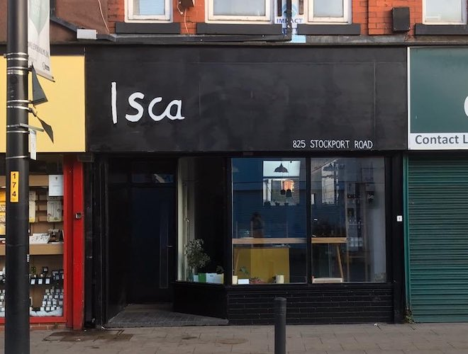 The exterior of Isca in Levenshulme, which specialises in natural wines and organic food