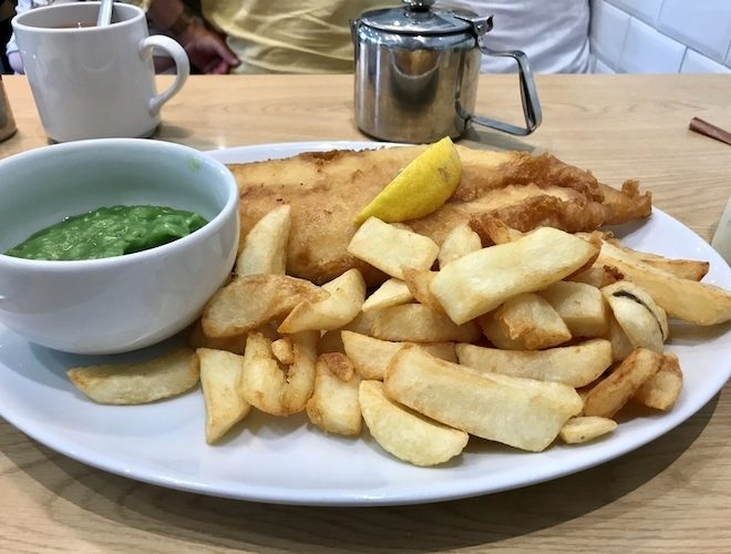 Classic fish and chips at Fosters in Alderley Edge - eat in their cafe or order to takeaway.