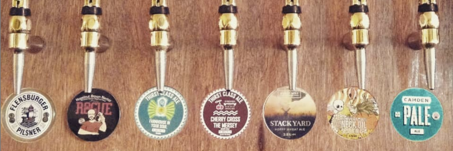 Some of the ales on tap at The Talleyrand - a bar in Levenshulme with a packed events programme