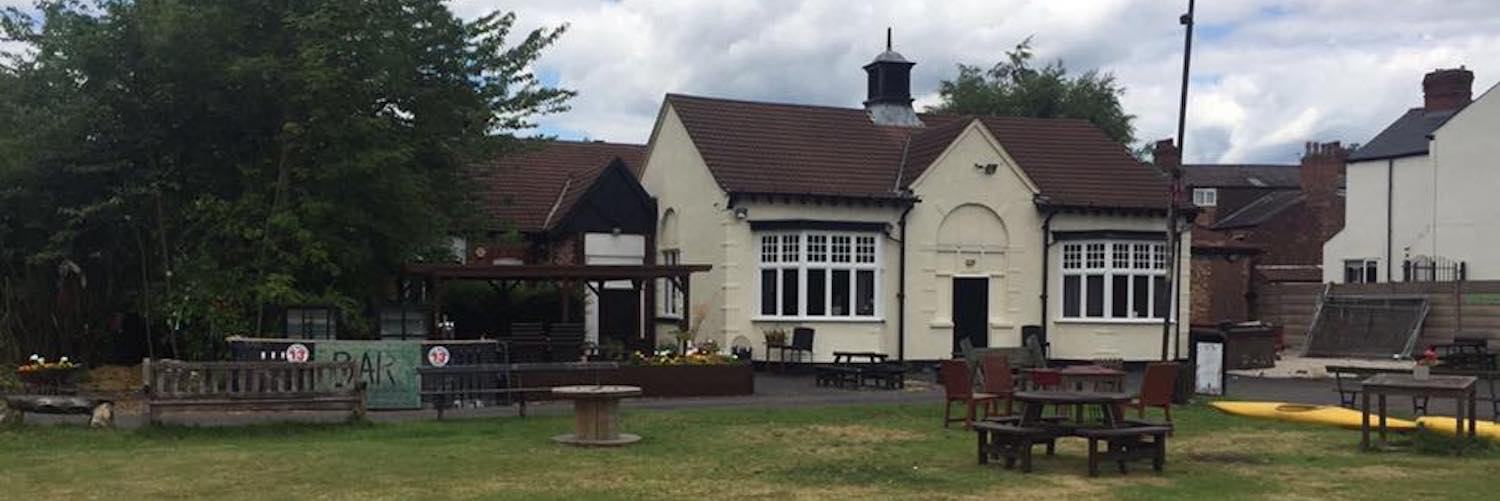 The gardens of The Klondyke Club in Levenshulme - a social club with a speakeasy-style bar