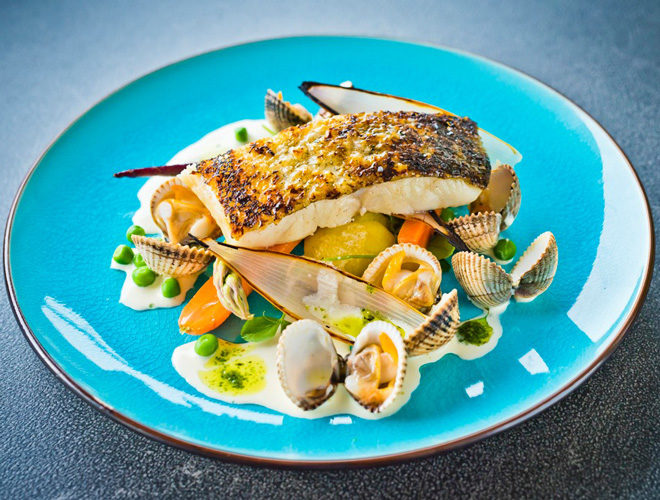 Pan Roasted Cod Loin at Alberts Restaurant Standish
