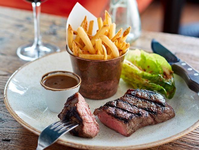 steak frites at Bistrot Pierre Altrincham