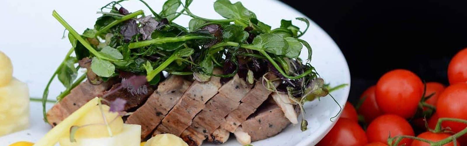 menu selection, Borage Restaurant, Trafford