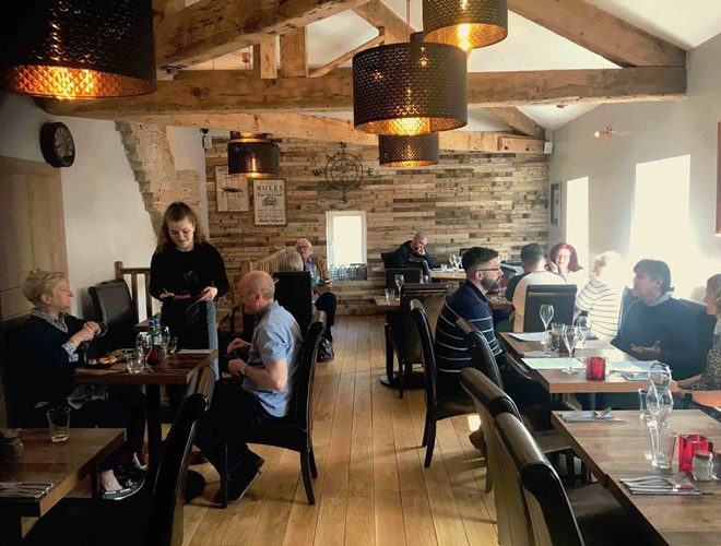The Fisherman's Table, Marple, restaurant interior