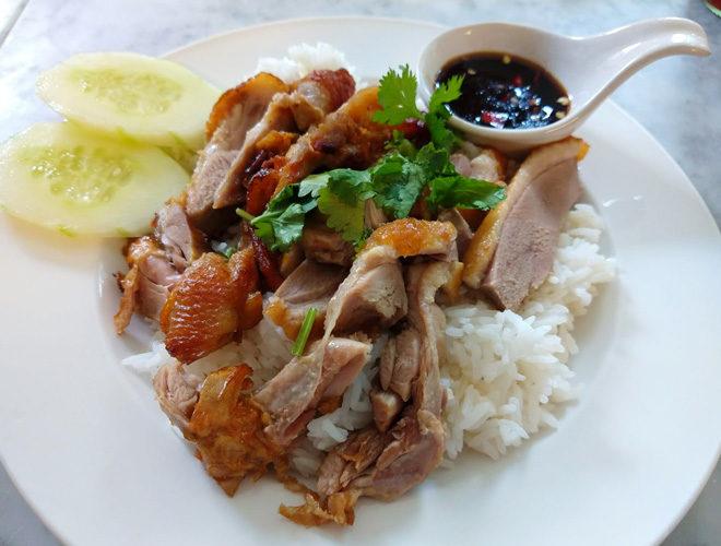 Thai Kitchen No.6, Manchester, pork and rice