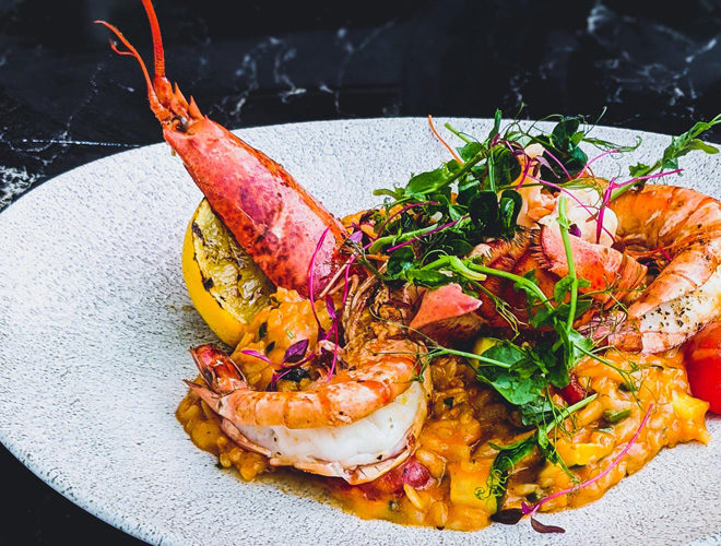 Seafood Risotto at Alberts Restaurant Didsbury