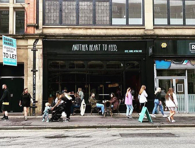 Front of the shop at Another Heart to Feed Northern Quarter Manchester