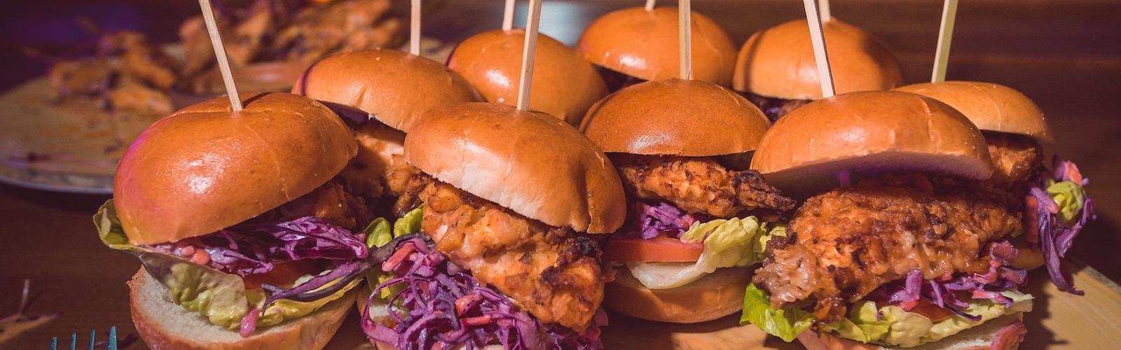 chicken burgers at Banyan Spinningfields Manchester