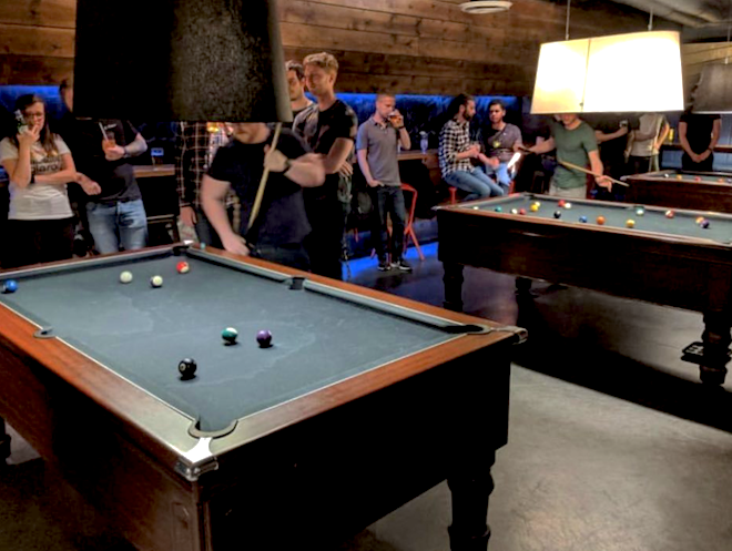 Pool tables at Black Dog Ballroom