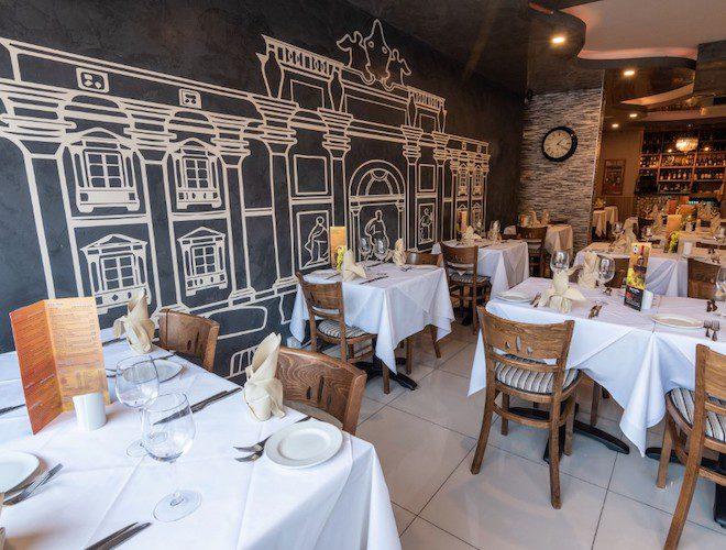 Interior seating, Borrello restaurant, Sale