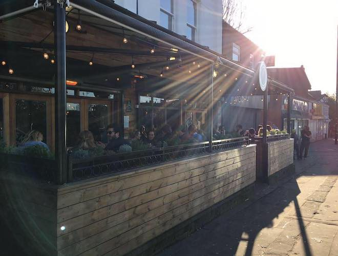 Outdoor seating, Brewski, Chorlton