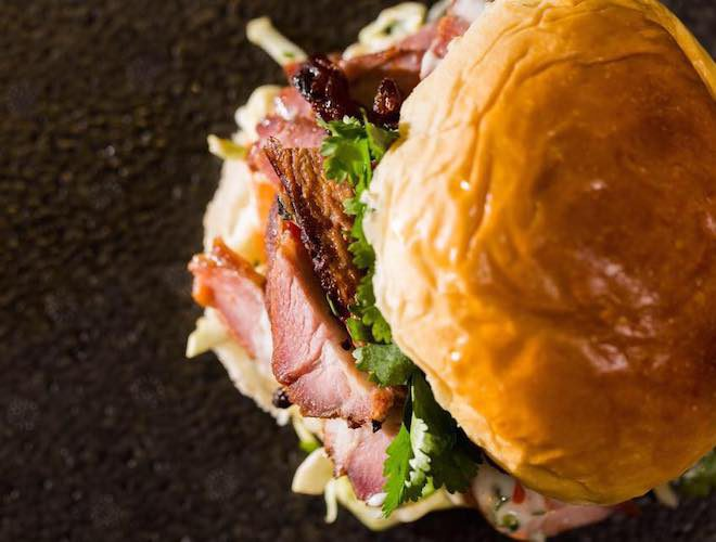 Backyard burger, Bunny Jackson's, Manchester