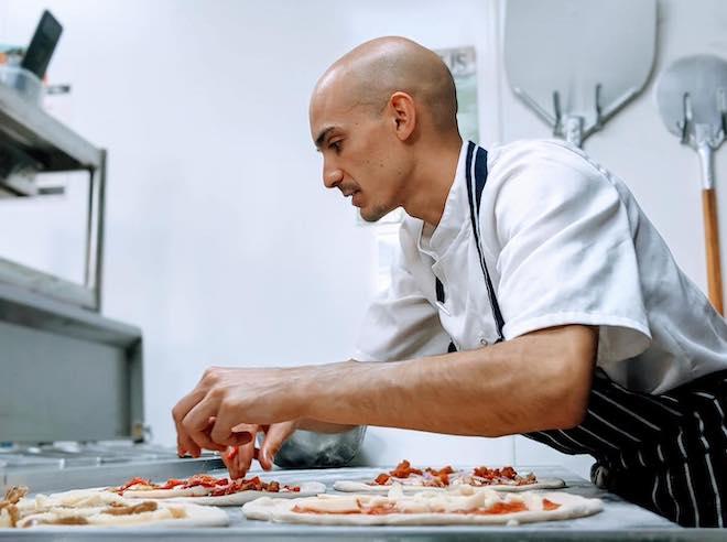 Cibus Restaurant Manchester Pizza Kitchen Chef