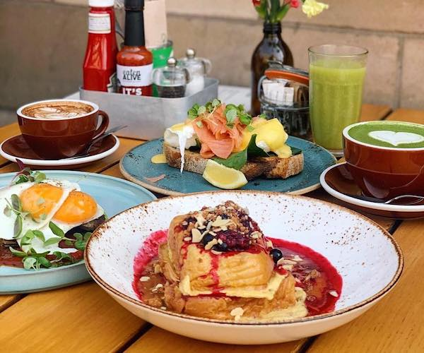 Federal Northern Quarter, Brunch, French Toast, Eggs, Coffee