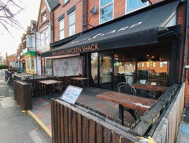 Peck and Yard pan asian food and outdoor seating in Chorlton
