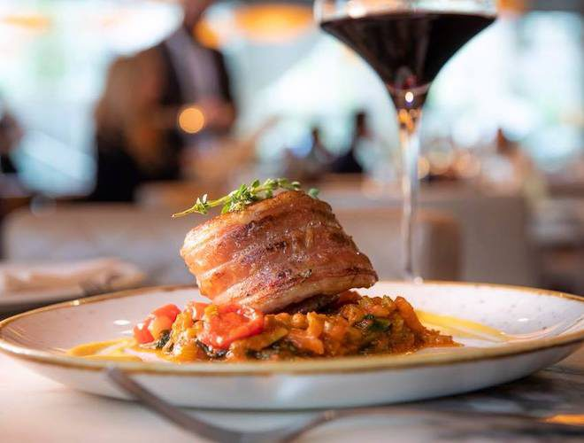 San Carlo Fumo Dinner and Wine