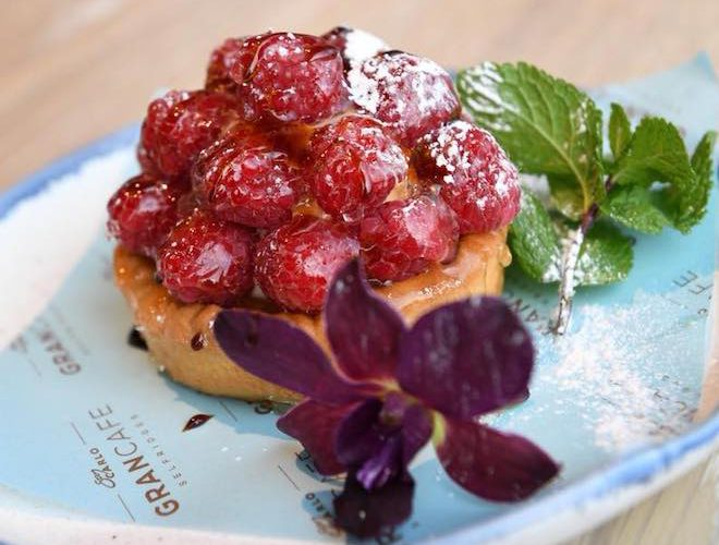 San Carlo Gran Cafe Manchester, Raspberry Tart