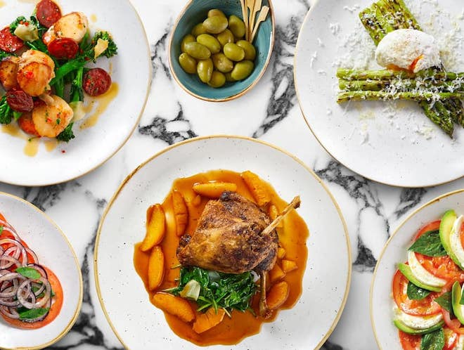A selection of dishes available at Piccolino Italian restaurant, Bramhall